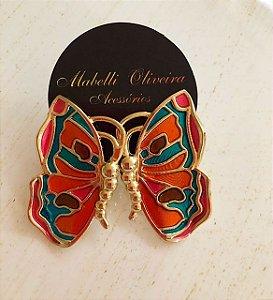 Brinco borboleta esmaltado