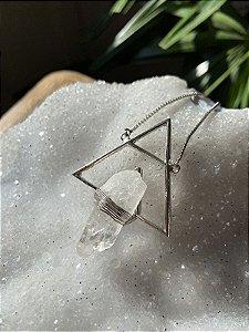 Colar Drusa de Cristal - Coleção Gênese
