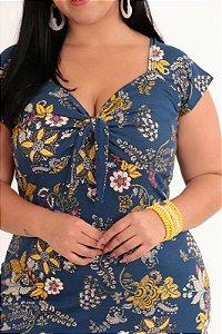 Vestido Feminino Floral Plus Size