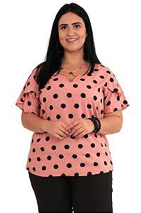 Blusa Feminina Poa Plus Size