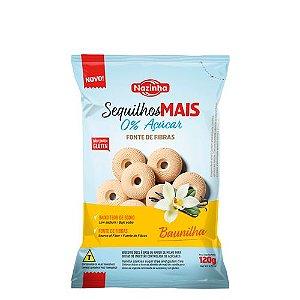 Sequilhos mais Zero açúcar Fonte de Fibras Baunilha 120g