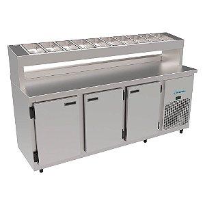 Balcão Refrigerado de Serviço Condimentaria 1.85m Kofisa KBSCC-185