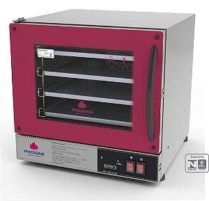 Forno Turbo Elétrico Fast Oven Multiuso PROGÁS PRP-004 PLUS Vermelho