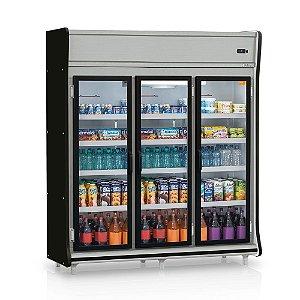 Refrigerador Vertical Auto Serviço Bebidas, Frios e Laticínios 3 Portas GELOPAR GEVP-3P