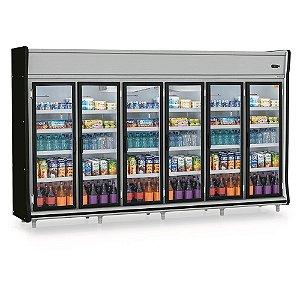 Refrigerador Vertical Auto Serviço Bebidas, Frios e Laticínios 6 Portas GELOPAR GEVP-6P