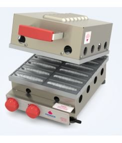 Máquina de Crepe Suíço a Gás 12 Cavidades PROGÁS PRK-120 G