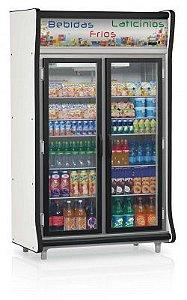 Refrigerador Vertical Auto Serviço Bebidas, Frios e Laticínios 2 Portas GELOPAR GEVP-2P