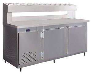 Balcão de Serviço Refrigerado Condimentador 1,90m Frilux RF-041