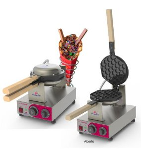 Máquina de Bubble Waffle PROGÁS PRKB-10