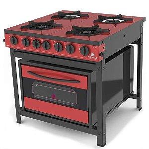 Fogão Industrial 4 bocas Gourmet Color PROGÁS PRGE-402