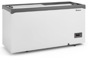 Conservador Horizontal Vidro Reto Deslizante Controlador Eletrônico e Iluminação 534L GELOPAR GHD-51 E LC