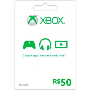 Cartão Presente Xbox Live BR Xbox R$50,00