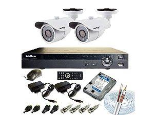 Kit de Monitoramento - 4 Câmeras + Gravação e Monitoramento via Smartphone