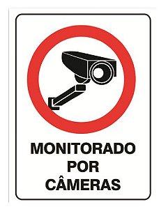 Placa Monitorado por câmeras