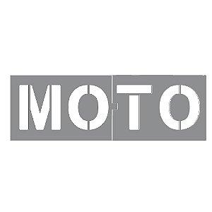 Gabarito Molde Para Pintura Vaga Estacionamento - Moto