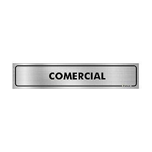 Placa Identificação - Comercial - Aluminio