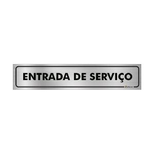 Placa Identificação - Entrada de Serviço - Aluminio