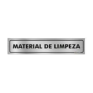 Placa Identificação - Material de Limpeza - Aluminio