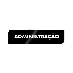 Placa Identificação - Administração - Acrilico