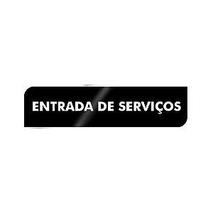 Placa Identificação - Entrada de Serviço - Acrilico