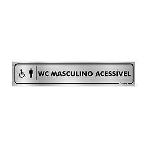 Placa Identificação - WC Acessível Masculino - Aluminio