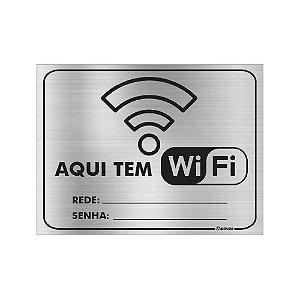 Placa - Aqui tem WIFI / Rede e Senha - Aluminio