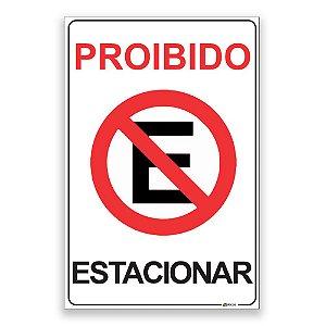 Placa Proibido Estacionar 2