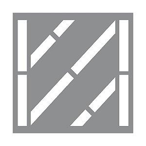 Gabarito Molde Para Pintura Vaga Estacionamento - Faixa Zebrada