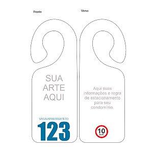 Placa - Crachá Veicular Identificador para Condomínios