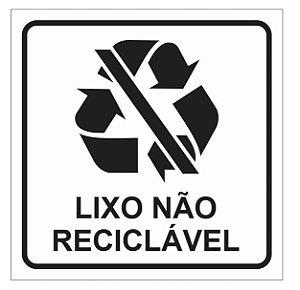 Placa ou Adesivo - Lixo Não Reciclável