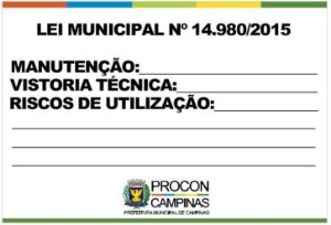 Placa - Lei Municipal 14.980/2015