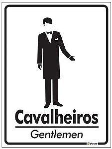 Placa de Banheiro - Cavalheiros