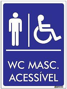 Placa WC Masculino Acessível