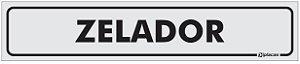Placa Identificação Zelador em PS 1mm