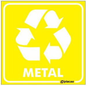 Placa de Sinalização - Metal