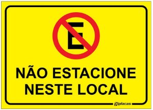 Placa - Não Estacione Neste Local