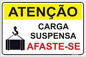 Placa Atenção - Carga Suspensa - Afaste-se