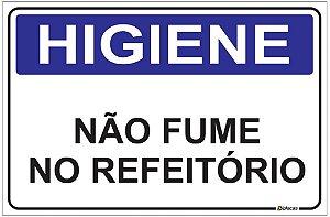Placa Higiene - Não Fume no Refeitório