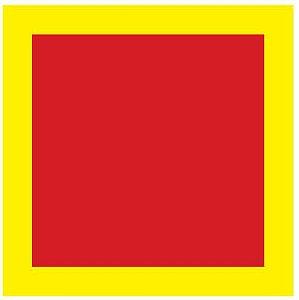 Adesivo - Sinalização de solo para extintores e Hidrantes 1x1m - E17
