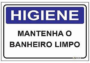 Placa Higiene - Mantenha o Banheiro Limpo