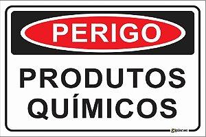 Placa - PERIGO - Produtos químicos
