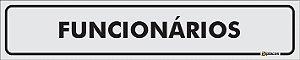 Placa Identificação - Funcionários - 25x5cm