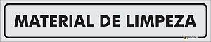Placa - Identificação - Material de Limpeza - 25x5cm
