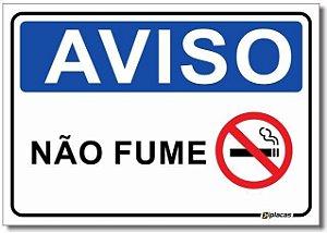 Aviso - Não Fume