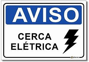 Aviso - Cerca Elétrica