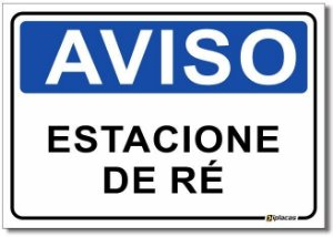 Aviso - Estacione de Ré