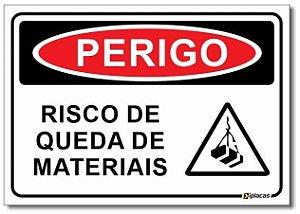 Perigo - Risco de Queda de Materiais