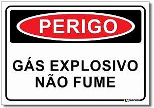 Perigo - Gás Explosivo, Não Fume