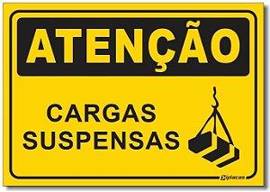 Placa Atenção - Cargas Suspensas
