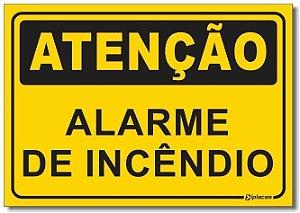 Placa Atenção - Alarme de Incêndio